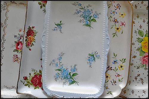 Vintage sandwich platters available for hire at High Tea Hire Napier NZ