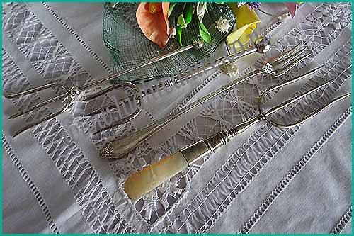 Silver-Antique-Bread-forks-high-tea-hire-napier