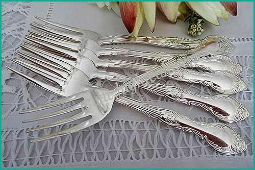 -Silver-desert-forks-high-tea-hire-napier