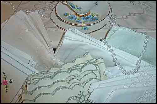 Assortment of Table Napkins event functions at high tea hire napier nz