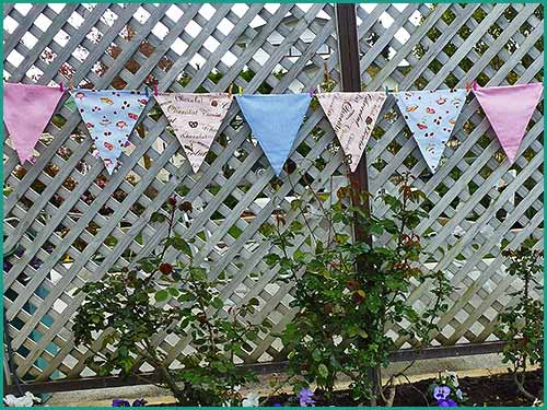 Bunting flags for hire at High tea Hire Napier