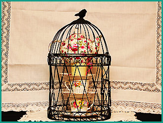 Caged-crockery-for-hire-at-High-Tea-Hire,-Napier