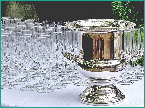 Many different Silver items for hire at High Tea Hire Napier