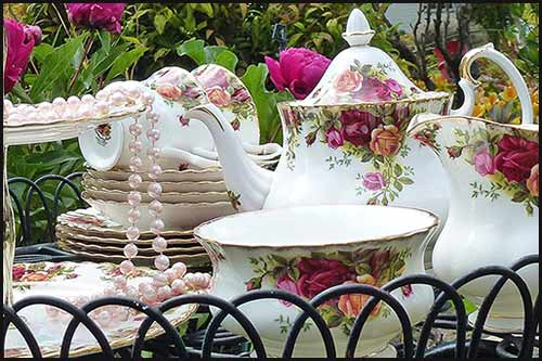 Hire your fine china for your next garden party even from High Tea Hire Napier