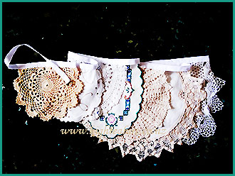 Old-style-Doily-Buntings-for-hire-at-High-Tea-Hire,-Napier