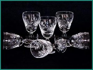 crystal glass sets for hire at high tea hire napier