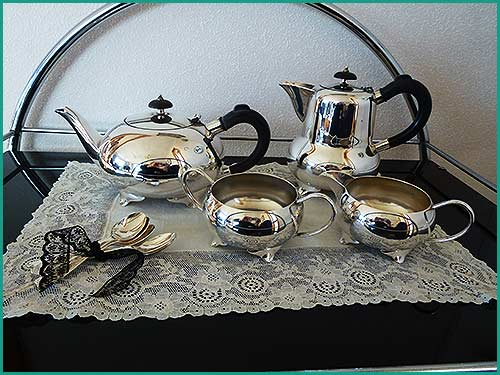 Silver-Tea-Sets-for-hire-with-High-Tea-Hire,-Napier