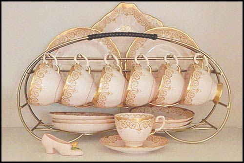 Tuscan Vintage china from high tea hire napier