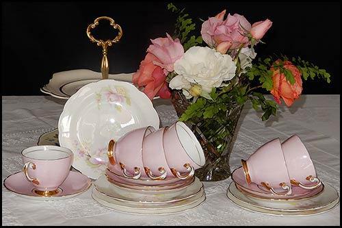 Vintage Mix Match miniature cups for hire High Tea Hire Napier