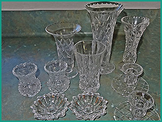 Vintage-vases-in-various-styles-sizes-for-hire-at-High-Tea-Hire-in-Napier