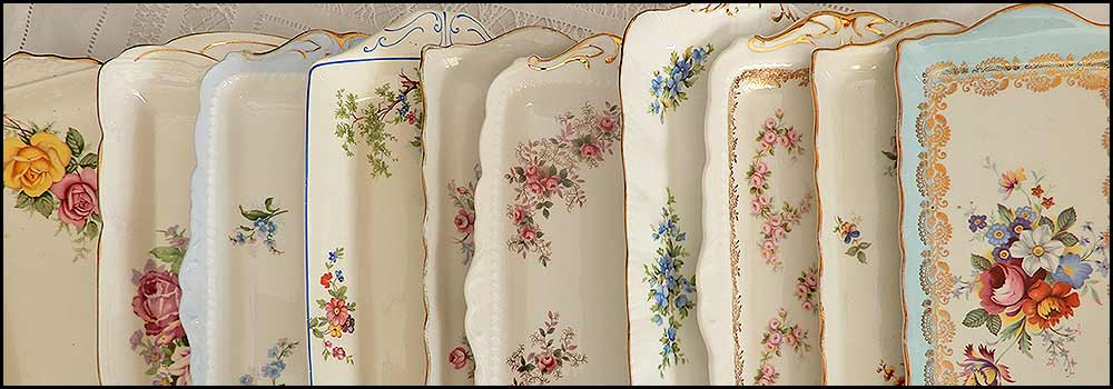 Sandwich platters vintage china hire napier nz