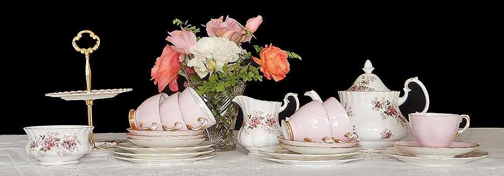 Vintage Mix Match miniature cup sets teapots for hire High Tea Hire Napier NZ