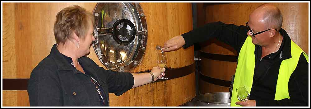 Wine tasting with Hawkes Bay Scenic Tours