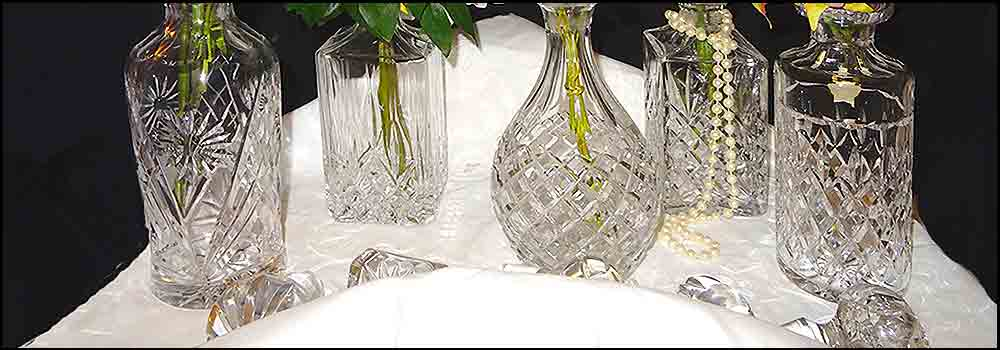 Decanters for hire at High Tea Hire Napier NZ