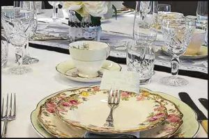 Hire your fine china for your next party from High Tea Hire