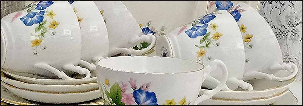 Bone China Cake plate and cup sets for Hire High Tea Hire Napier