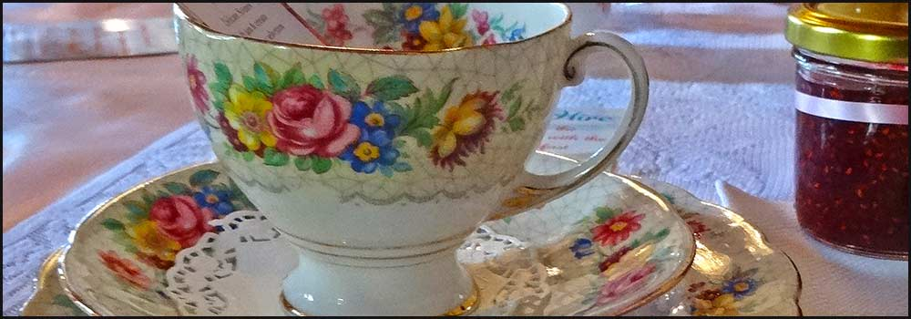 Fine china available for hire with High Tea Hire Napier NZ