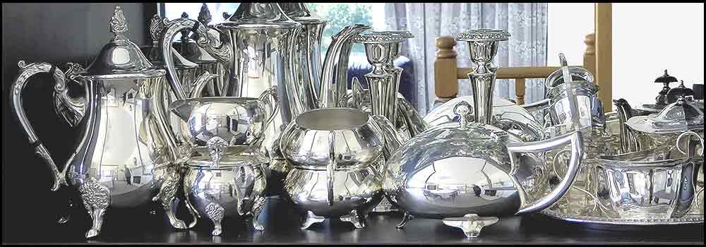 Vintage Silverware teapots coffee pots sugar bowls milk jugs events function high tea hire napier nz