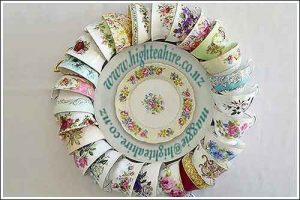 English-Bone-China-Cups-in-a-circle-High-Tea-Hire-Napier-NZ