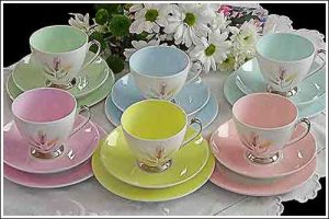 Queen-Anne-china-cup-sets-with-silver-High-Tea-Hire-Napier-NZ
