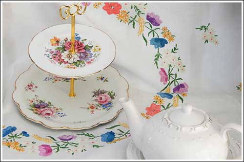 Two-tiered-cake-stand-high-tea-Hire-Vintage-Napier