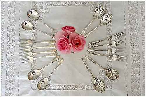 Antique-Vintage-Desert-Spoons-&-Forks-High-Tea-Hire-Napier-NZ