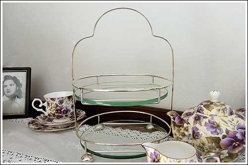 Art-Deco-2-tiered-circular-stand-high-tea-hire-napier-NZ