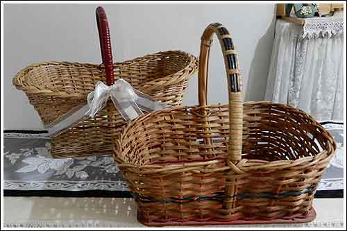 Cane vintage baskets high tea hire napier New Zealand