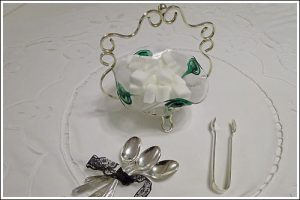 Deco-Sugar-bowl-Tongs-Teaspoons-high-tea-hire