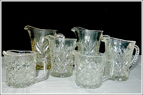 Depression-Glass-milk-jug-creamers-party-high-tea-hire-napier-NZ