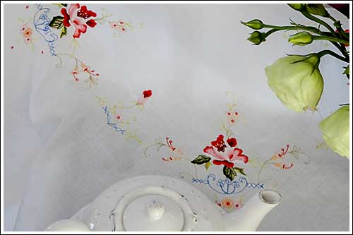 Embroidered-tablecloths-for-hire-high-tea-napier-nz