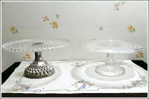 Glass-pedestal-plates-party-high-tea-hire-napier-new-zealand