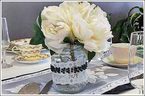 Jars-Lace-beads-decoration-high-tea-hire-napier-nz