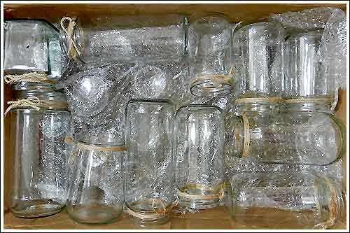 Jars-for-wedding-table-centre-pieces-high-tea-hire-napier-NZ
