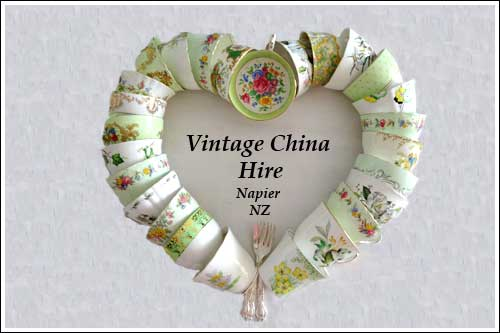 Vintage China hire napier New Zealand