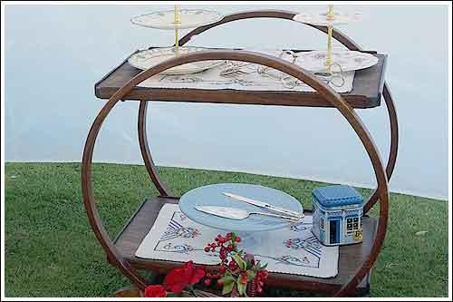 Oak-Art-Deco-Tea-Trolley-high-tea-hire-napier-new-zealand