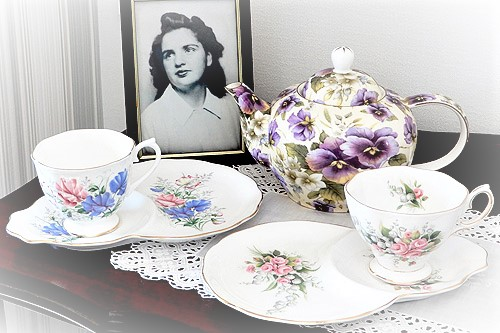 Royal albert Tennis Cup sets for garden party hire high tea hire napier new zealand