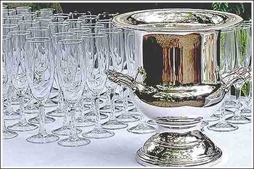 Silver-Champagne-Cooler-High-Tea-Hire-Napier-NZ-