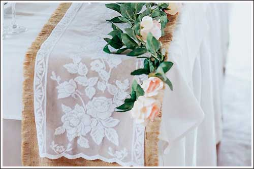 Table-runners-lace-and-hessiam-high-tea-hire-napier-nz
