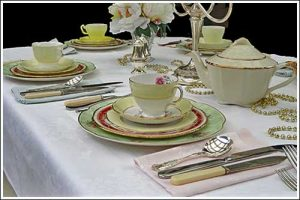 Vintage-table-setting-mix-&-match-party-high-tea-hire-napier-NZ