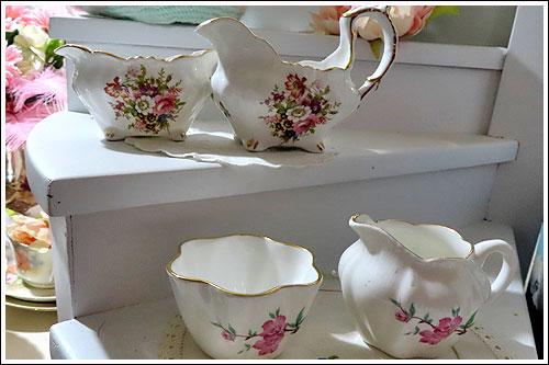 Milk jug & Sugar bowls high tea hire napier nz