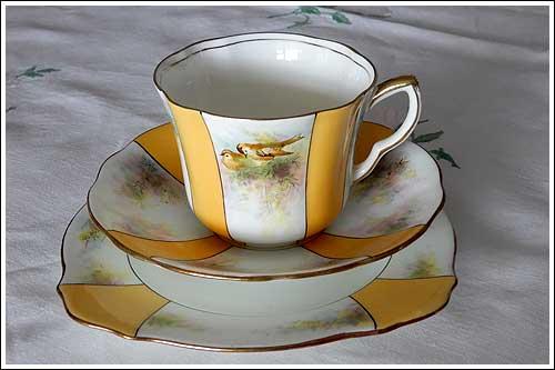 Art Deco cup set party hire high tea napier nz
